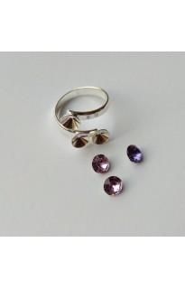 Кольцо для Chaton 3х6мм Ag925