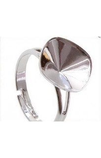 Перстень на Square Rhinestone 4470 12mm Rh