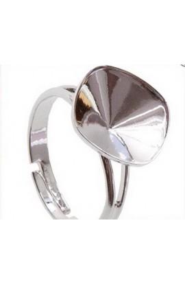 Перстень на Square Rhinestone 4470 10mm Rh