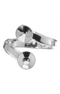 Кольцо для Chaton 2х8мм Ag925