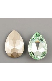 Кристалл Pear Flat 4327 30mm Chrysolite F