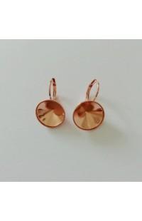 Серьги (швензы) короткие на Dentelle  10мм ROSE GOLD