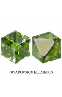 Кристалл Angled Cube 6mm PERIDOT CAL 'VZ'