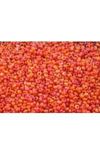 Бисер красно-оранжевый матовый