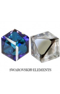 Кристалл Angled Cube 6mm CRYSTAL BERMUDA BLUE 'Z'