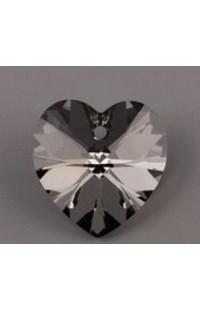 Кристалл подвеска XILION HEART 6228 14,4x14мм CRYSTAL SILVER NIGHT