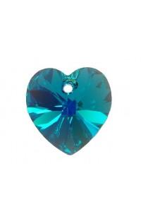 Кристалл подвеска XILION HEART 6228 10,3x10мм BLUE ZIRCON AB