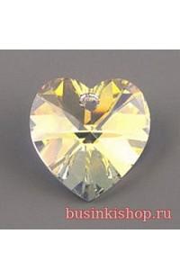 Кристалл подвеска XILION Heart 6228 14мм crystal AB