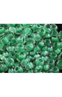 Бисер крупный зеленый в кристалле