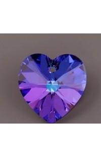 Кристалл подвеска XILION HEART 6228 10,3x10мм CRYSTAL HELIOTROPE