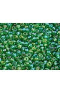 Бисер зеленый радужный