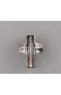 Бусины Крест Swarovski Elements 5378 14мм Silver Night