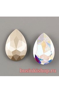 Кристалл Pear Flat 4327 30mm Crystal AB F