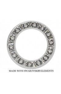 Стразовые круги SWAROVSKI ELEMENTS CRYSTAL rhodium диаметр 1,4cm